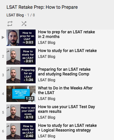 LSAT Retake YouTube Videos